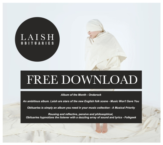 LAISH OBITUARIES ALBUM COVER free review