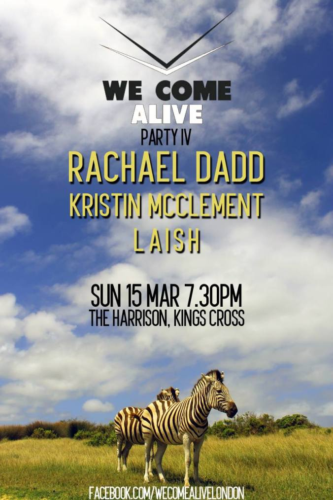 We Come Alive poster 15 Mar 15