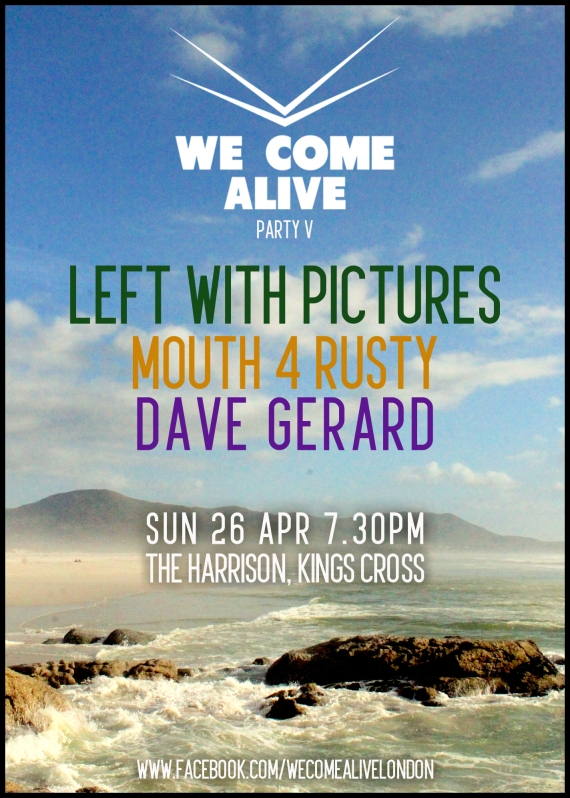 We Come Alive 26 Apr 15 poster